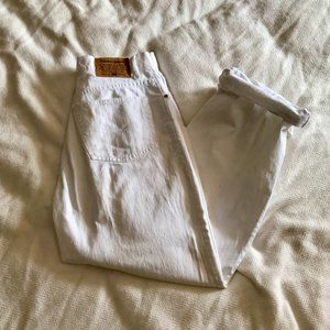 NWOT Super Cute White Cropped Baggy Jeans